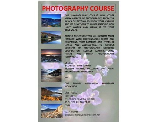 O' Leary's Cameraworld Classes