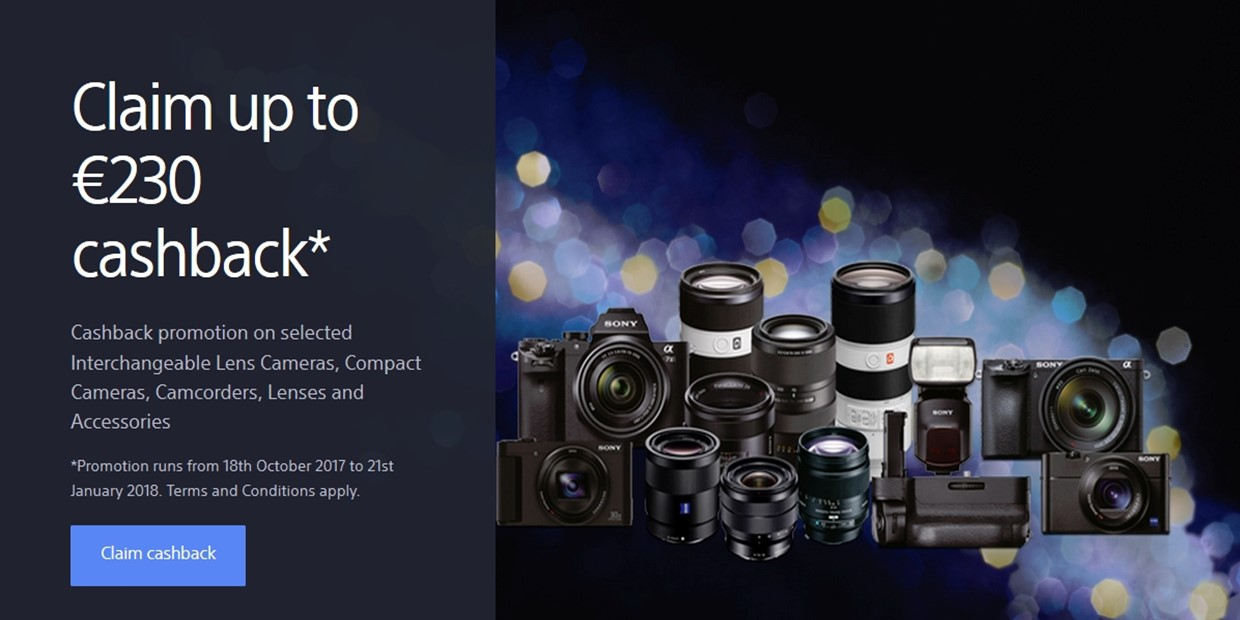 sony winter cashback site
